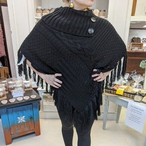 Leto Cable Knit Poncho